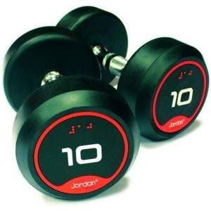 Jordan Classic Rubber Solid End Dumbell Pairs by Podium 4 Sport