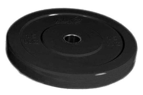 NXG 15kg Black Bumper Plate by Podium 4 Sport