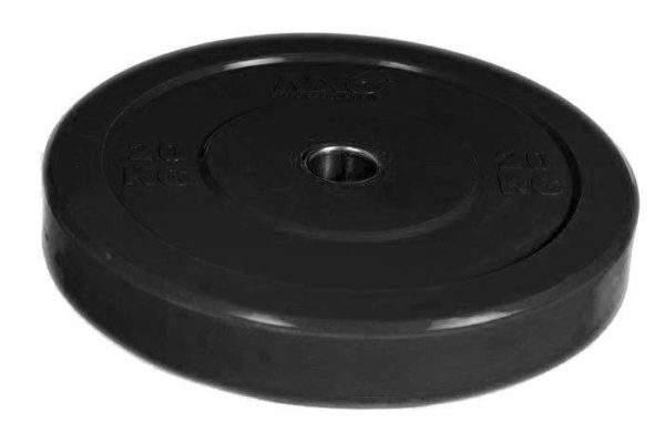 NXG 20kg Black Bumper Plate by Podium 4 Sport