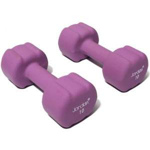 Jordan Ignite Neoprene Dumbell 10kg Pair by Podium 4 Sport