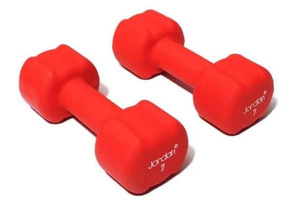 Jordan Ignite Neoprene Dumbell 7kg Pair by Podium 4 Sport