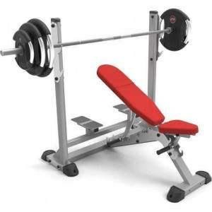 Indigo Fitness Adjustable Olympic Incline Bench by Podium 4 Sport