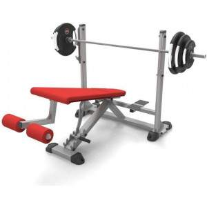 Indigo Fitness Adjustable Olympic Decline Bench by Podium 4 Sport