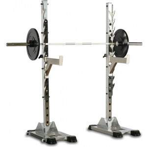 Indigo Fitness Black Series Squat Stands (Pair) by Podium 4 Sport