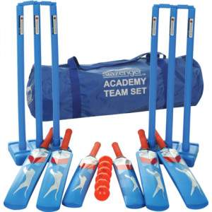 Slazenger Academy Plastic Cricket Set - Team by Podium 4 Sport