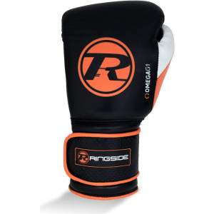Ringside Omega G1 Strap Glove Black/Orange by Podium 4 Sport