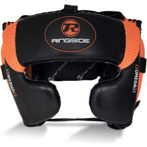 Ringside Omega G1 Ultra Headguard Black/Orange by Podium 4 Sport