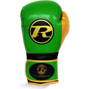 Ringside Pro Fitness Glove Green/Gold by Podium 4 Sport