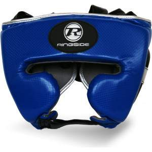 Ringside Pro Fitness Headguard Blue/Silver by Podium 4 Sport