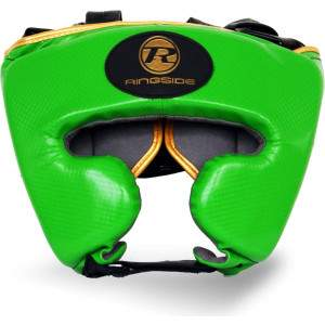 Ringside Pro Fitness Headguard Green/Gold by Podium 4 Sport