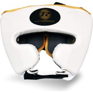 Ringside Pro Fitness Headguard White/Gold by Podium 4 Sport