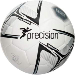 Precision Fusion Rotario Match Ball White/Black/Silver Size 5 by Podium 4 Sport