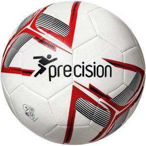 Precision Fusion Training Ball White/Red/Black Size 5 by Podium 4 Sport
