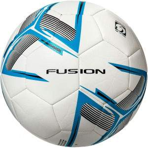 Precision Fusion Training Ball White/Cyan Blue/Black Size 5 by Podium 4 Sport