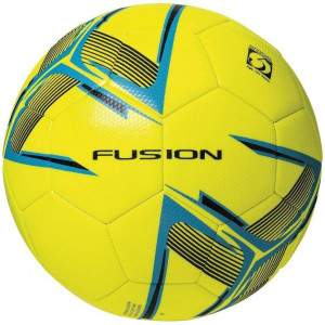 Precision Fusion Training Ball Fluo Yellow/Cyan Blue/Black Size 3 by Podium 4 Sport