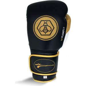 Ringside Honey Punch Float G1 Series Pro Spar Glove Black/Gold by Podium 4 Sport