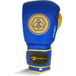 Honey Punch Float G1 Series Pro Spar Glove Blue/Gold by Podium 4 Sport