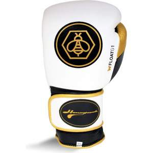 Ringside Honey Punch Float G1 Series Pro Spar Glove White/Gold by Podium 4 Sport