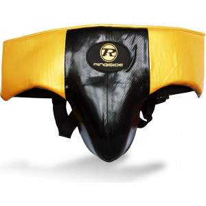 Ringside Pro Fitness Groin Guard Black/Gold by Podium 4 Sport