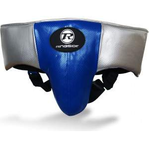 Ringside Pro Fitness Groin Guard Blue/Black/Silver by Podium 4 Sport
