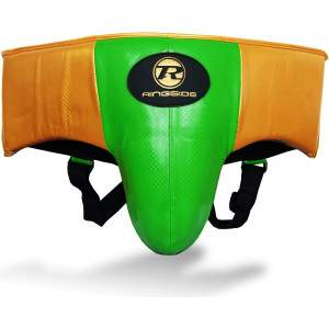 Ringside Pro Fitness Groin Guard Green/Black/Gold by Podium 4 Sport