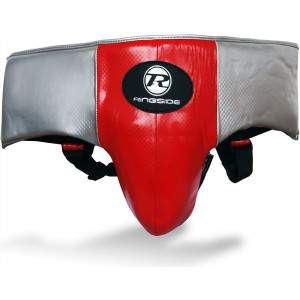 Ringside Pro Fitness Groin Guard Red/Black/Silver by Podium 4 Sport