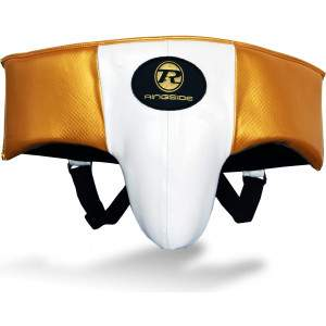 Ringside Pro Fitness Groin Guard White/Black/Gold by Podium 4 Sport