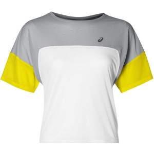 Asics Women's Style Running Top Yellow by Podium 4 Sport
