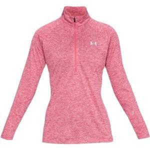 UA Women's Tech™ Twist ½ Zip Pink by Podium 4 Sport