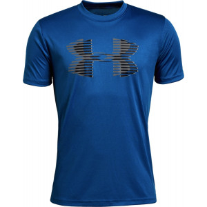 UA Boys Tech™ Big Logo Solid T-Shirt Blue by Podium 4 Sport