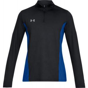 UA Men's Challenger II Midlayer Shirt Black/Blue by Podium 4 Sport