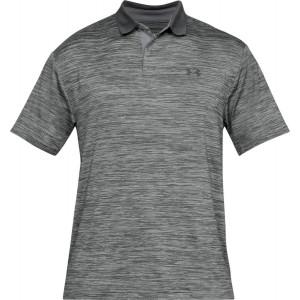 UA Men's Performance Polo Textured Grey by Podium 4 Sport