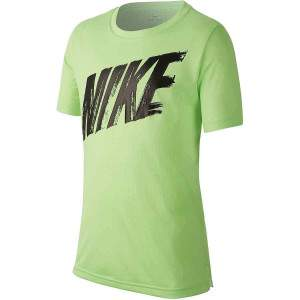 Nike Boys Dri-FIT Short-Sleeve Training Top Green by Podium 4 Sport