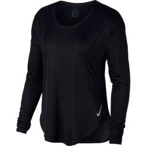 Nike Women's City Sleek Running Top Black by Podium 4 Sport