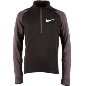 Nike Boys Dri-FIT Long-Sleeve 1/2-Zip Running Top Black by Podium 4 Sport