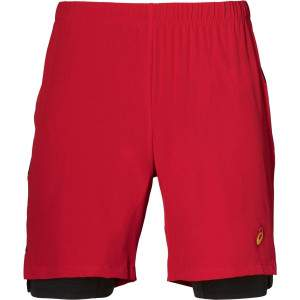 Asics Men's 2-in-1 7in Short Red by Podium 4 Sport