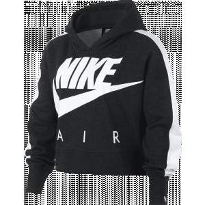 Nike Air Girls Cropped Hoodie Black by Podium 4 Sport