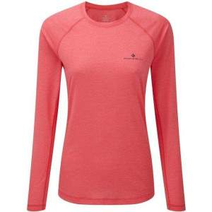 Ronhill Women's Momentum LS Top Pink by Podium 4 Sport