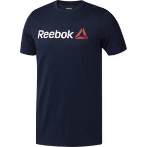 Reebok Men's Linear Read Tee Navy by Podium 4 Sport